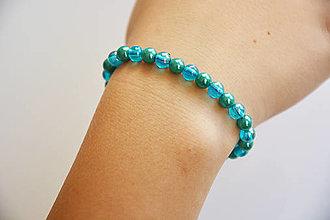 Náramky - Modrá perla - 12615505_