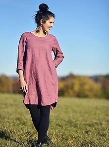 Šaty - lněné šaty hladké laRose - 12617185_
