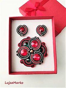 Sady šperkov - Scarlet sada v darčekovom balení - 12616979_