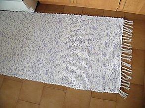 Úžitkový textil - Tkaný koberec melírovaný fialovo-modrý - 12615409_