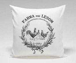 Úžitkový textil - Vankúš FARMA- sliepocky - 12624445_