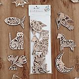 Dekorácie - Sada drevených ozdôb - Folk rozprávka - 12620614_