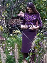Šaty - Slovenská ornamentika - vyšívané šaty s opaskom - 12619888_
