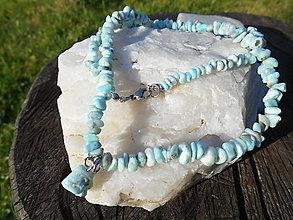 Náhrdelníky - LARA A MORE-larimar-náhrdelník- - 12624608_