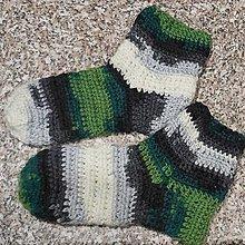 Iné oblečenie - Hačkované ponožky - 12625886_