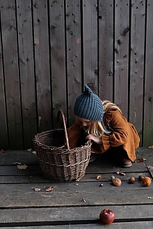Detské čiapky - Detská čiapka škriatok tmavozelená - 12620564_