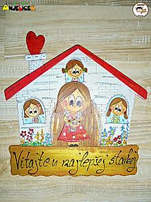 Tabuľky - Menovka - rodinka a domček - 12623898_