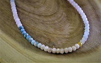 Náhrdelníky - dúhový morganitový náhrdelník - 12625643_