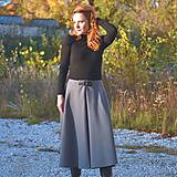 """Sukne - AILA - midi sukňa s prackou """"rôzne farby"""" - 12625258_"""