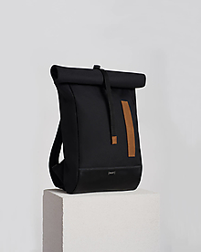 Batohy - Rolltop black/karamel - 12623868_