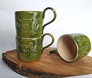 Nádoby - Keramický pohár - Listový - 12622097_