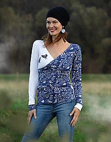 Tričká - Tričko Blue Forest - 12625277_