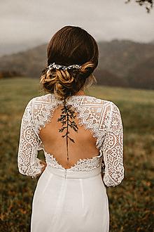 Šaty - Svadobné šaty s holým chrbátom v úzkom strihu - 12622454_