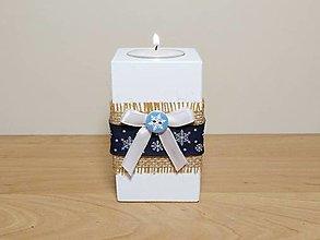Svietidlá a sviečky - Svietnik so snehovými vločkami ❄️ - 12624020_