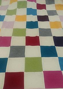 Textil - Dečka pre bábätko patchwork biobavlna/merino - 12621499_