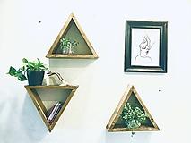 Nábytok - Set policových trojuholníkov z kolekcie Jonathan - 12621323_