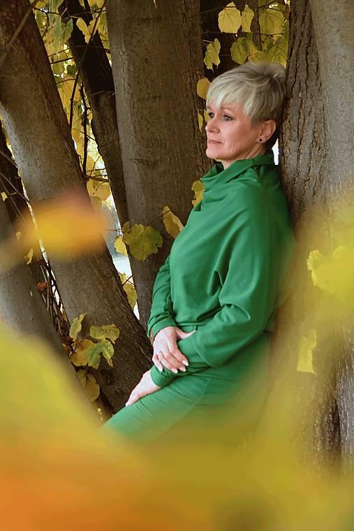 Športové šaty Contrast (green)