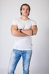 - Pánske ľanové tričko Tymián - 12631617_