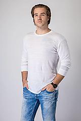 - Pánske ľanové tričko Rozmarín - 12631737_