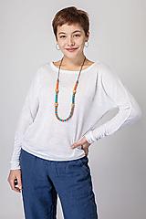 - Dámske ľanové tričko Púpava - 12631782_
