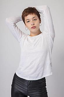 Tričká - Dámske ľanové tričko Šalvia - 12631537_