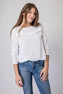 Tričká - Dámske ľanové tričko Šípka - 12631699_