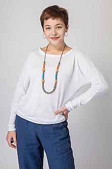 Tričká - Dámske ľanové tričko Púpava (L) - 12631782_