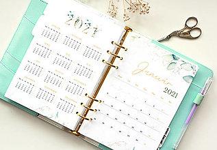 Papiernictvo - Kalendár 2021 (A5, PDF na stiahnutie) Greenery - 12627862_
