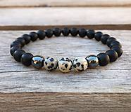 Šperky - Náramok - ónyx, hematit, jaspis - 12626292_