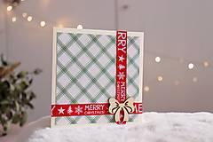 Papiernictvo - vianočná pohľadnica - darček  - 12631643_