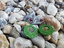 Náušnice - Náušničky ozdôbky zelené - 12626390_