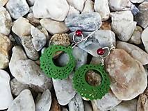 Náušnice - Náušničky ozdôbky zelené - 12626392_
