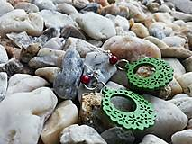 Náušnice - Náušničky ozdôbky zelené - 12626394_