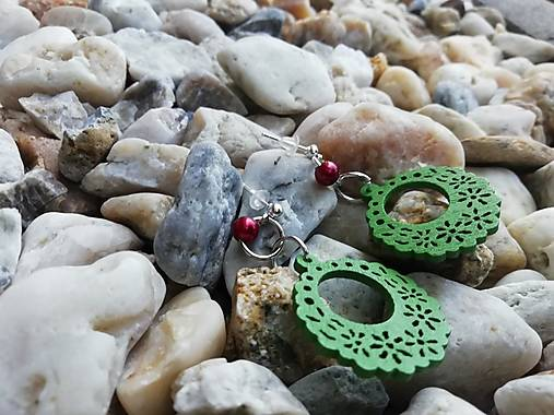 Náušničky ozdôbky zelené