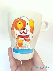 Nádoby - Ručne maľovaná šálka psík :) - 12629956_