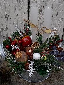 Dekorácie - vianočný svietnik - 12630129_