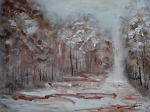 Obrazy - Zimný les - 12626985_