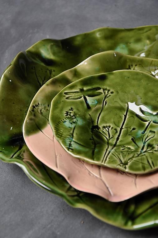 tanierik , svietnik, podšálka, zelená