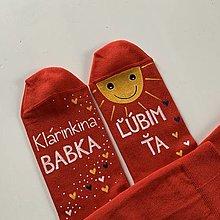 Obuv - Maľované ponožky pre ... (babku, ktorú ľúbite) - 12632087_