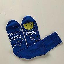 Obuv - Maľované ponožky pre ... (dedka, ktorého ľúbite) - 12632129_