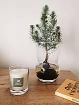 Svietidlá a sviečky - Prírodná vonná sviečka v skle | levanduľa-rozmarín - 12630546_