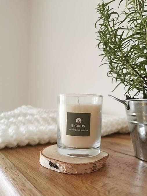 Prírodná vonná sviečka v skle | levanduľa-rozmarín