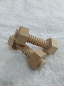 Iný materiál - drevené skrutky - 12626852_