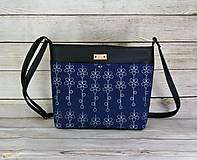 Kabelky - modrotlačová kabelka Angela čierna 1 - 12626271_