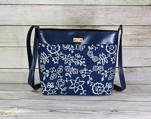 modrotlačová kabelka Angela modrá 1