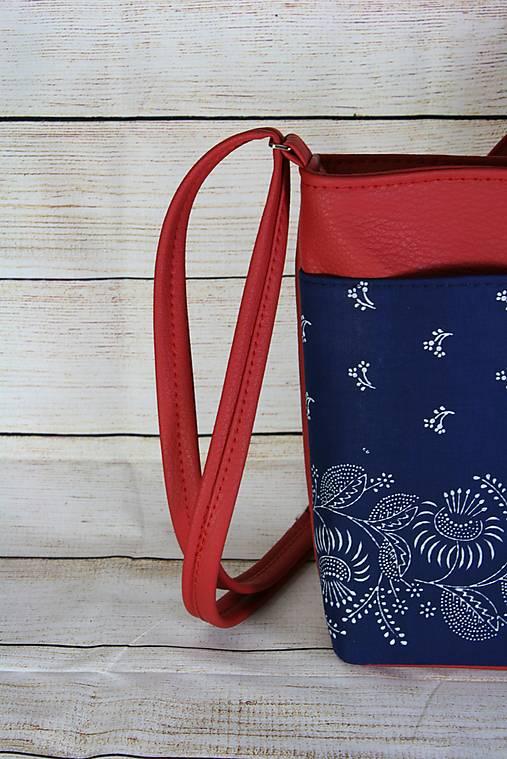 modrotlačová kabelka Angela červená 1