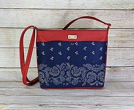 Kabelky - modrotlačová kabelka Angela červená 1 - 12626265_