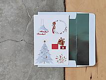 Grafika - Vianočná kartička, Vianočné radosti - 12628529_