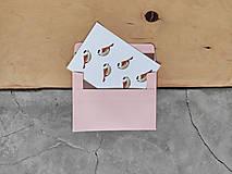 Grafika - Vtáčiky kartička/pohľadnica - 12628541_