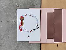 Grafika - Vianočná kartička, veniec - 12628543_